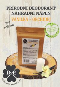 Náhradní náplň do přírodního deodorantu roll-on 22 g - Vanilka a orchidej