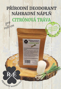 Náhradní náplň do přírodního deodorantu roll-on 22 g - Citrónová tráva