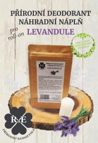 Náhradní náplň do přírodního deodorantu roll-on 22 g - Levandule