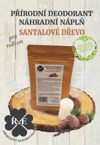 Náhradní náplň do přírodního deodorantu roll-on 22 g - Santalové dřevo