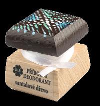 Přírodní krémový deodorant Santalové dřevo s ručně malovaným víčkem
