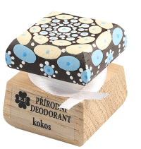 Přírodní krémový deodorant Kokos s ručně malovaným víčkem - mandala