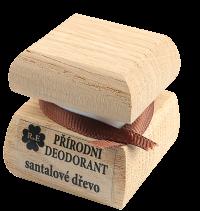 Přírodní krémový deodorant s vůní i santalového dřeva 50 ml