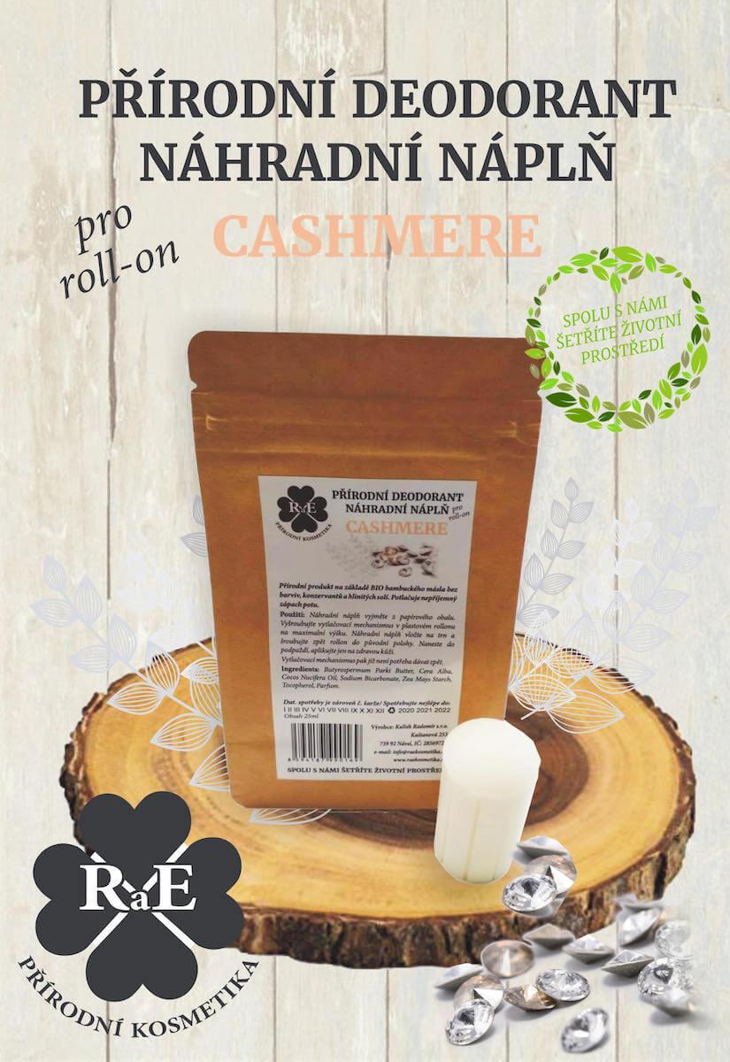 Náhradní náplň do přírodního deodorantu roll-on 22 g - Cashmere