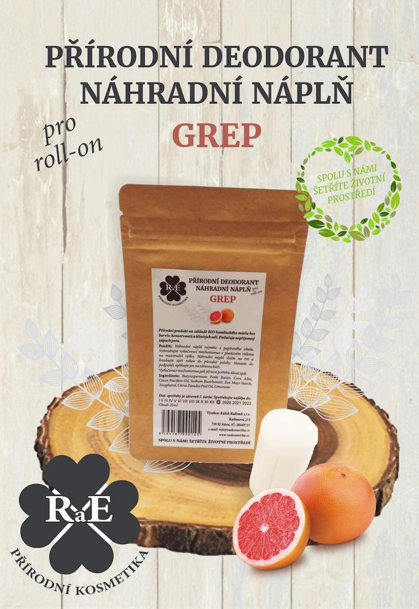 Náhradní náplň do přírodního deodorantu roll-on 22 g - Grep