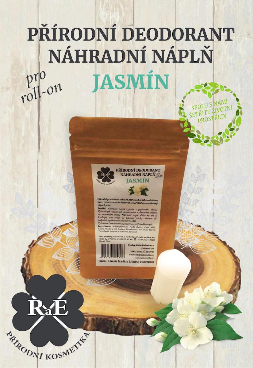 Náhradní náplň do přírodního deodorantu roll-on 22 g - Jasmín