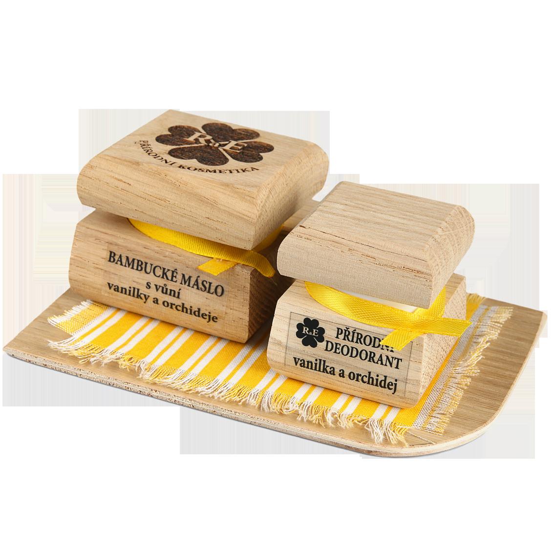 Bambucké tělové máslo 50 ml + Krémový deodorant Nature 15 ml - Vanilka a orchidej