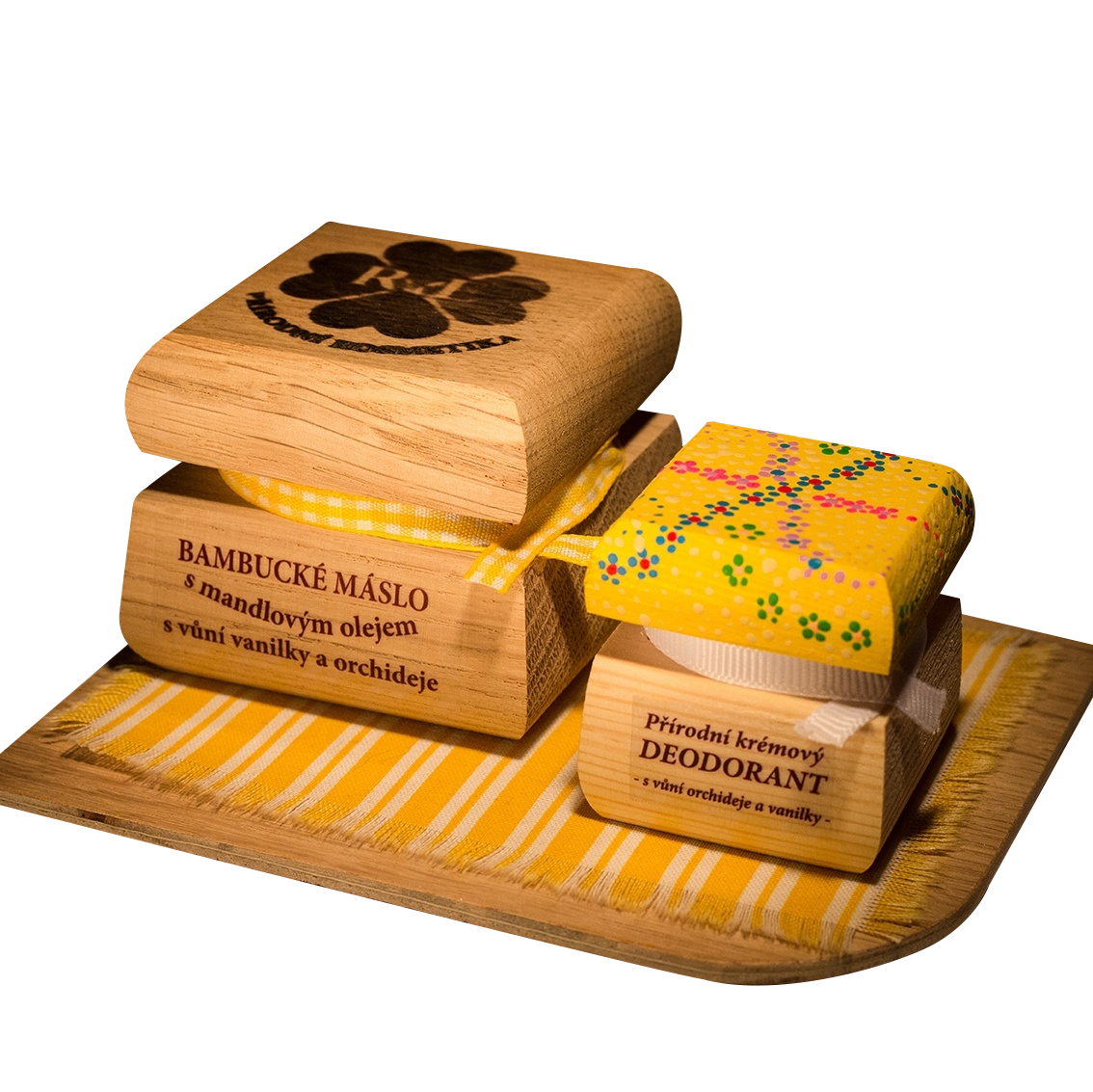 Bambucké tělové máslo 50 ml + Krémový deodorant Color 15 ml - Vanilka a orchidej
