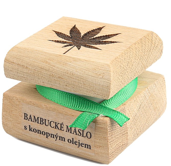 Bambucké tělové máslo s konopným olejem 50 ml