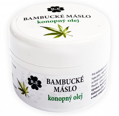 RaE přírodní kosmetika - Bambucké tělové máslo s konopným olejem 30 ml  50 ml