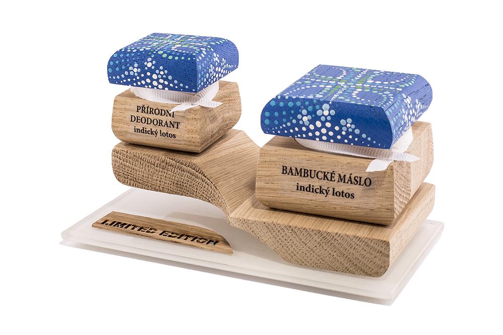 Barevná limitovaná edice - Bambucké tělové máslo 30 ml + Krémový deodorant 15 ml - Indický lotos
