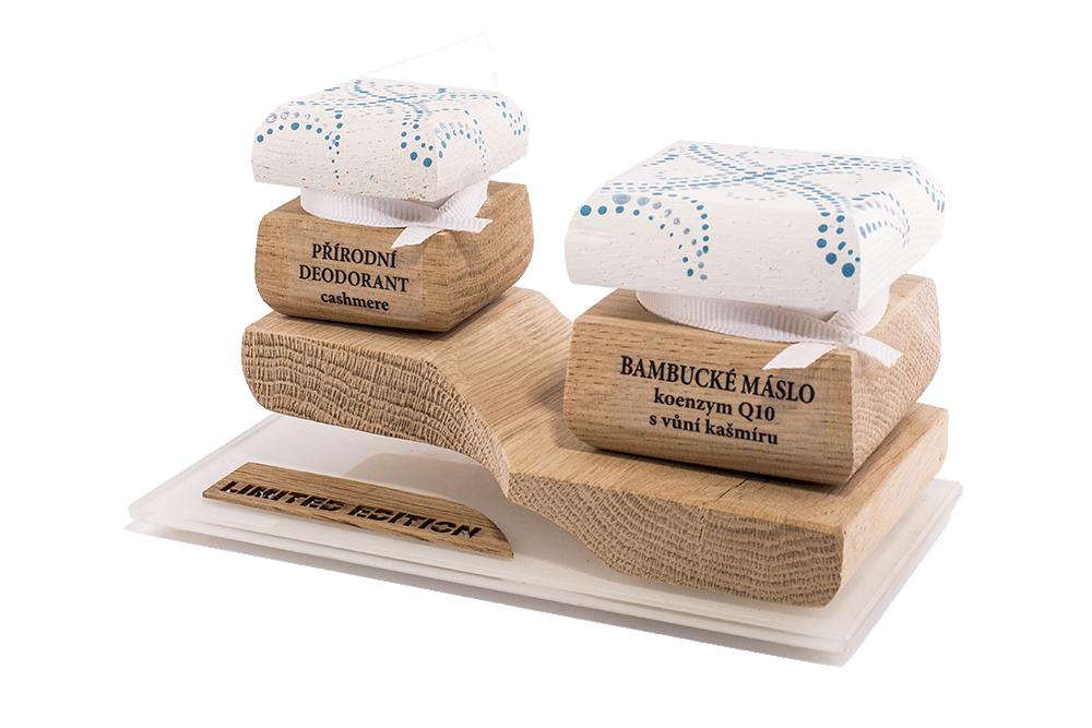 Barevná limitovaná edice - Bambucké tělové máslo 30 ml + Krémový deodorant 15 ml - Kašmír a Q10