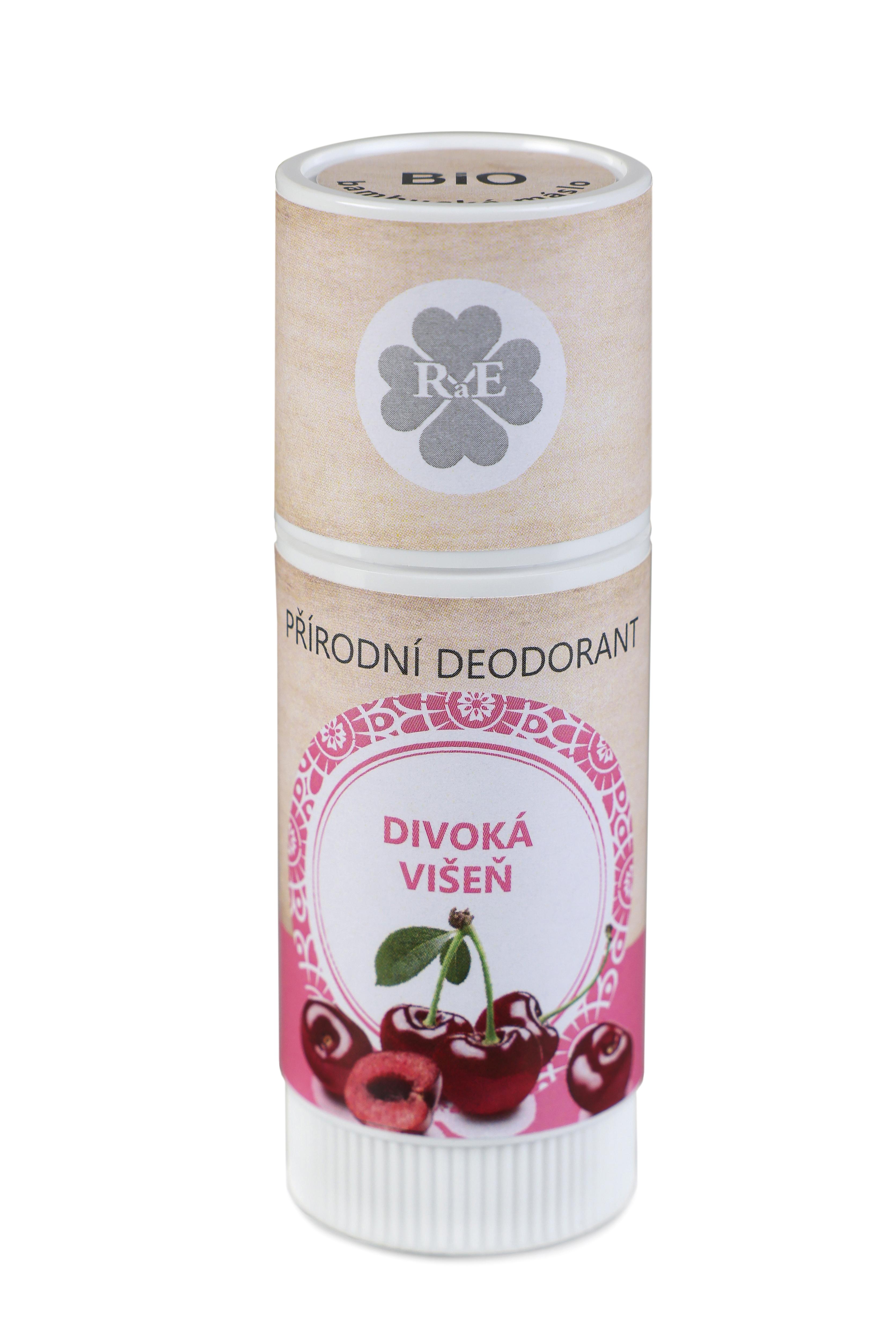 Přírodní deodorant BIO bambucké máslo s vůní divoké višně 25 ml