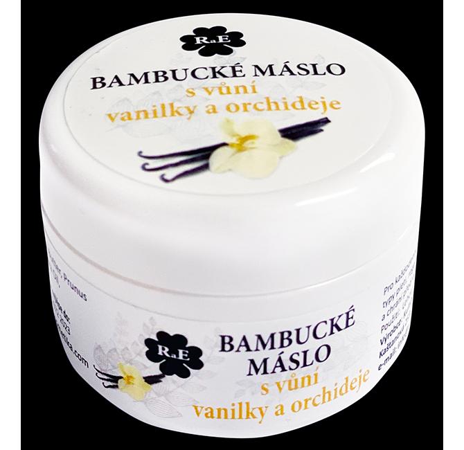 Bambucké tělové máslo s vůní vanilky a orchideje 30 ml
