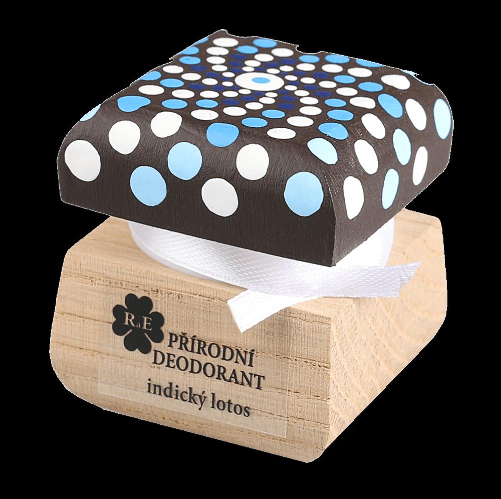 Přírodní krémový deodorant Indický lotos s ručně malovaným víčkem - mandala 15 ml