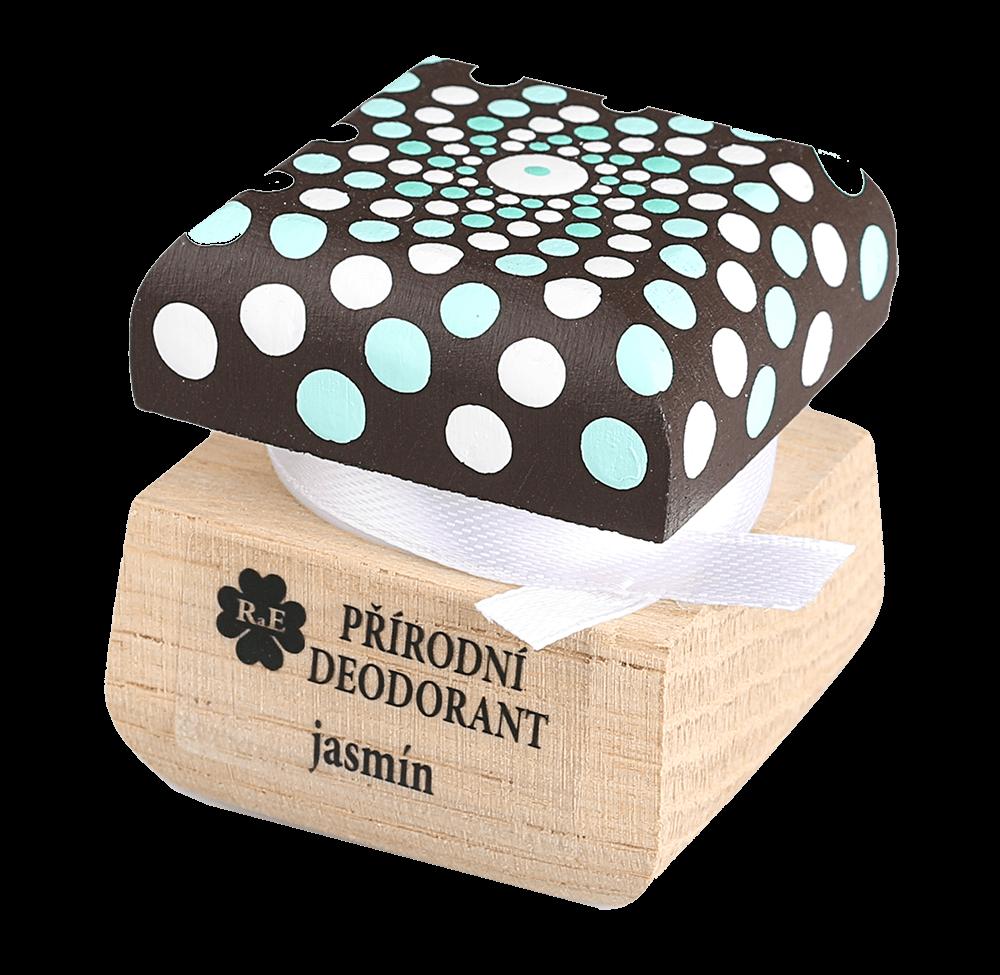 Přírodní krémový deodorant Jasmín s ručně malovaným víčkem - mandala 15 ml