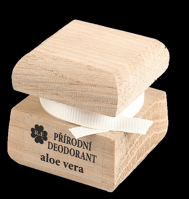 Přírodní krémový deodorant s vůní aloe vera a přidaným extraktem z aloe