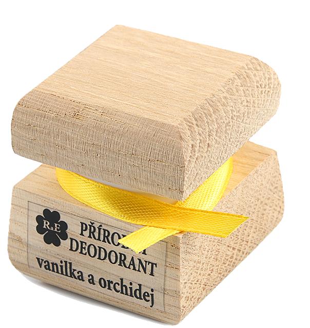 Přírodní krémový deodorant s vůní vanilky a orchideje