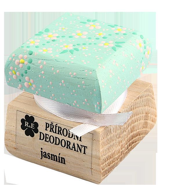 Přírodní krémový deodorant Jasmín s ručně malovaným víčkem 15 ml