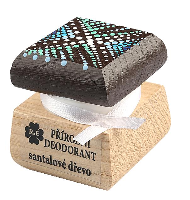 Přírodní krémový deodorant Santalové dřevo s ručně malovaným víčkem 15 ml
