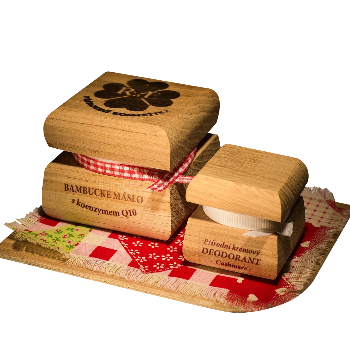 Bambucké tělové máslo Q10 + Krémový deodorant Nature - Cashmere