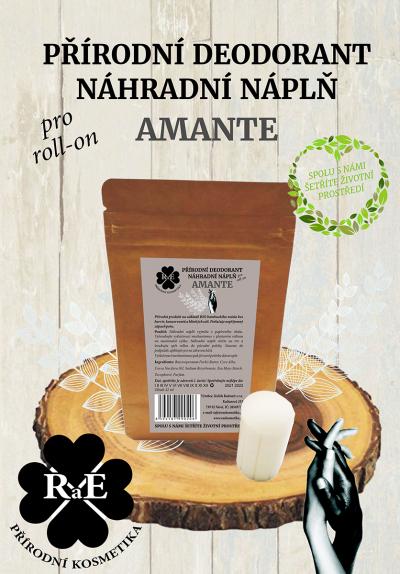 RaE přírodní kosmetika - Náhradní náplň do přírodního deodorantu roll-on 22 g - Amante