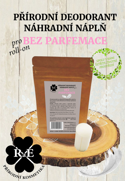 RaE přírodní kosmetika - Náhradní náplň do přírodního deodorantu roll-on 22 g - Bez parfemace