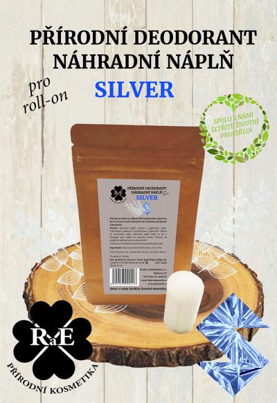 RaE přírodní kosmetika - Náhradní náplň do přírodního deodorantu roll-on 22 g - Silver
