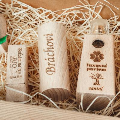 RaE přírodní kosmetika - Pánský dárkový balíček - Parfém + Roll-on + Balzám  Klasický