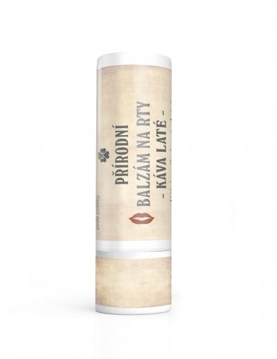 RaE přírodní kosmetika - BIO balzám na rty s příchutí kávy laté 7,5 ml 7,5 ml