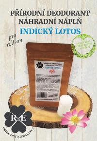 Náhradní náplň do přírodního deodorantu roll-on 22 g - Indický lotos