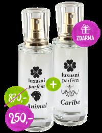 Luxusní parfém Caribe + Animal - sklo 30 ml