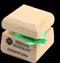 Přírodní krémový deodorant s vůní citrónové trávy 50 ml