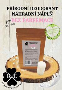 Náhradní náplň do přírodního deodorantu roll-on 22 g - Bez parfemace