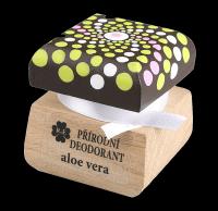 Přírodní krémový deodorant s vůní aloe vera a přidaným extraktem z aloe - mandala 15 ml
