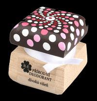 Přírodní krémový deodorant Divoká višeň s ručně malovaným víčkem - mandala 15 ml