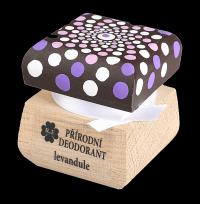 Přírodní krémový deodorant Levandule s ručně malovaným víčkem - mandala 15 ml