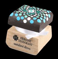 Přírodní krémový deodorant Santalové dřevo s ručně malovaným víčkem - mandala 15 ml