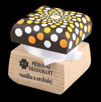 Přírodní krémový deodorant Vanilka a orchidej s ručně malovaným víčkem - mandala 15 ml