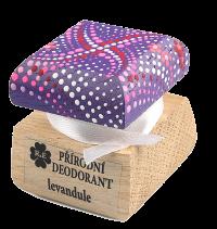 Přírodní krémový deodorant Levandule s ručně malovaným víčkem - fialová 15 ml
