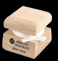 Přírodní krémový deodorant s vůní aloe vera a přidaným extraktem z aloe - 15 ml
