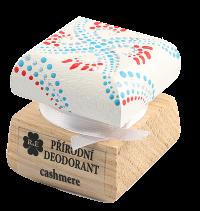 Přírodní krémový deodorant Cashmere s ručně malovaným víčkem - bílo-červená 15 ml