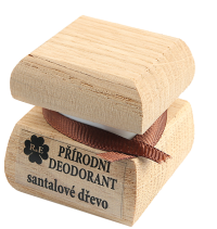 Přírodní krémový deodorant s vůní santalového dřeva