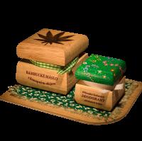 Bambucké tělové máslo Konopí 50 ml + Krémový deodorant Color 15 ml - Citrónová tráva