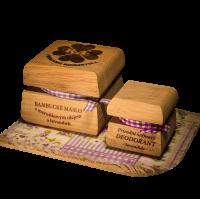 Bambucké tělové máslo 50 ml + Krémový deodorant Nature 15 ml - Levandule