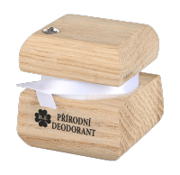 Přírodní krémový deodorant edice Swarovski - stříbrný - 15 ml - náplň dle výběru