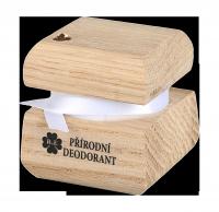 Přírodní krémový deodorant edice Swarovski - zlatý - 15 ml - náplň dle výběru